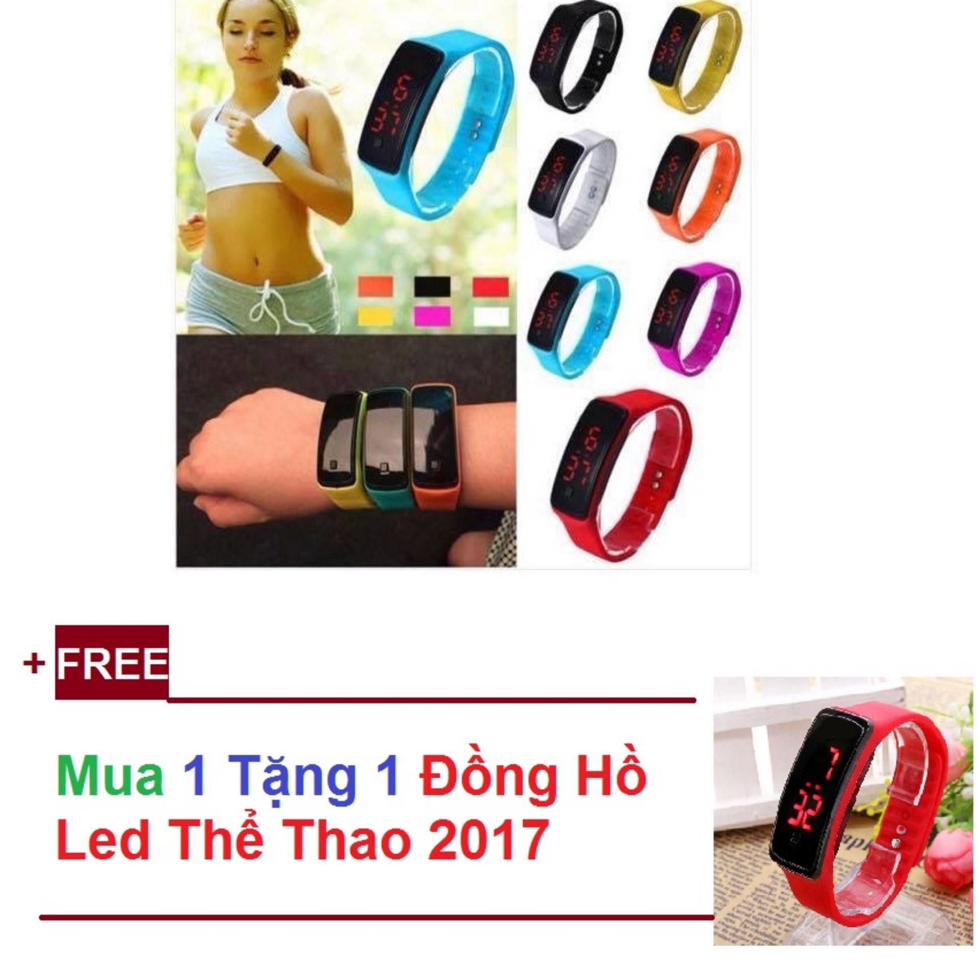 Đồng Hồ Led Thể Thao 2017-Mua 1 Tặng 1