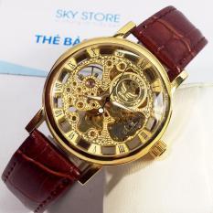 Đồng hồ nam AUTOMATIC dây da SEWOR 9868