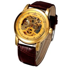 Đồng hồ nam automatic dây da SEWOR dây da SE2359 (Mặt vàng)