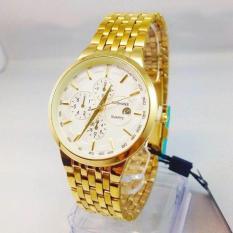 Đồng hồ nam baishuns 3 mặt màu vàng