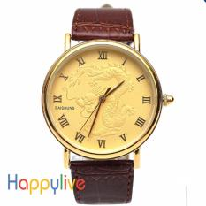 Đồng hồ nam Baishuns dây da mặt rồng