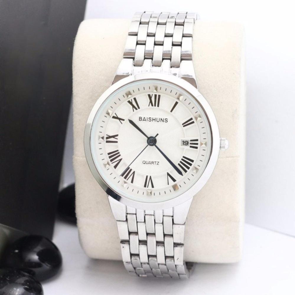 Đồng hồ nam baishuns màu trắng
