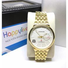 Đồng hồ nam Baishuns Q7 mặt màu trắng cực dẹp