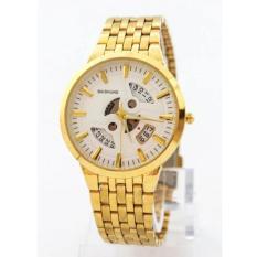 Đồng hồ nam Baishuns Q7 màu vàng lộ máy cực đẹp