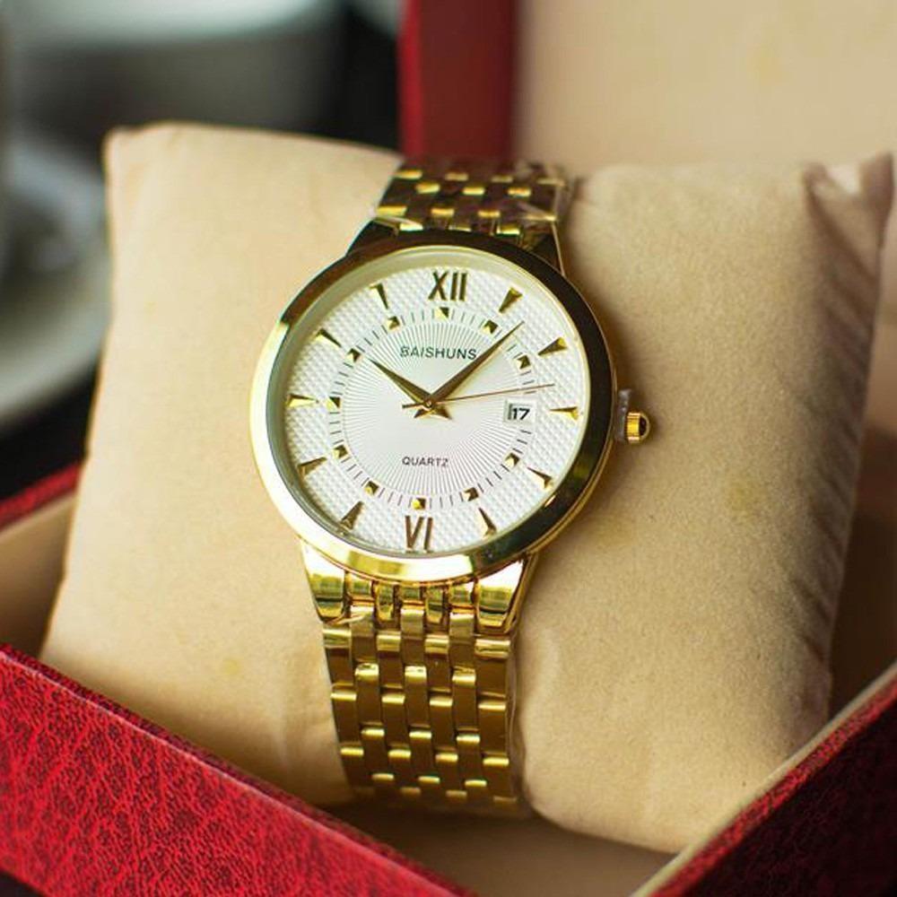 Đồng hồ nam Baishuns V6 màu vàng cực đẹp
