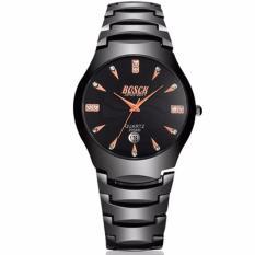 Đồng hồ nam BOSCK 8899B dây thép cao cấp (đen)