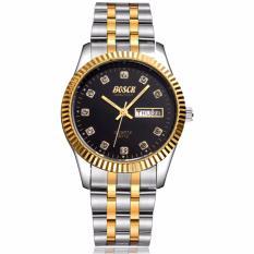 Đồng hồ nam BOSCK 8999 dây thép không gỉ cao cấp (mặt đen)