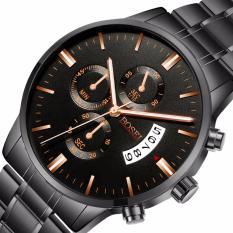 Đồng hồ nam BOSEI BSE393 dây thép không gỉ cao cấp ( Mặt đen )