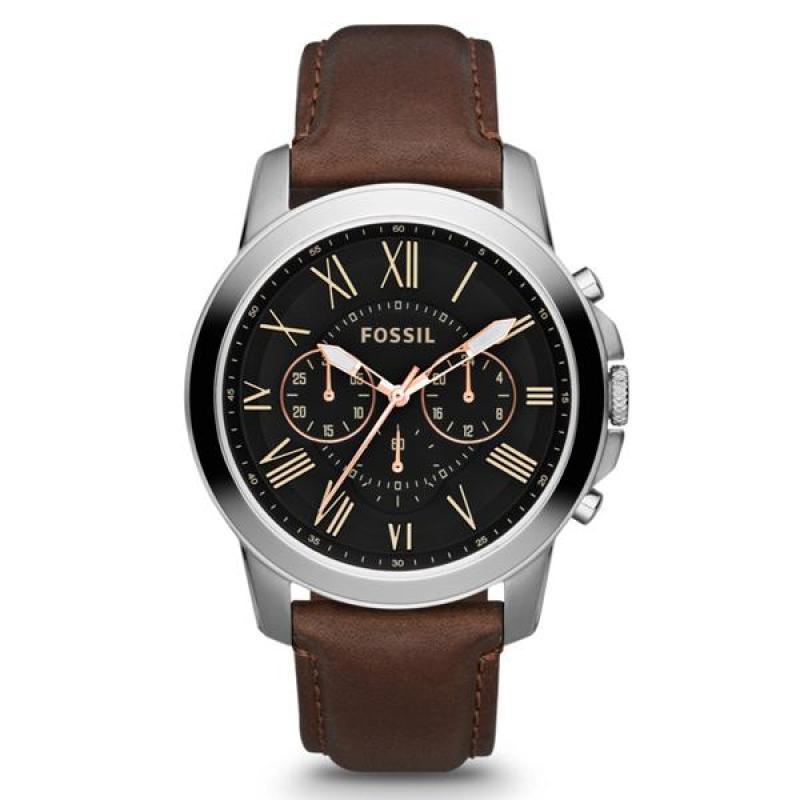 Nơi bán Đồng hồ nam cao cấp dây da Fossil FS4813 (Đen) - Phân phối chính hãng