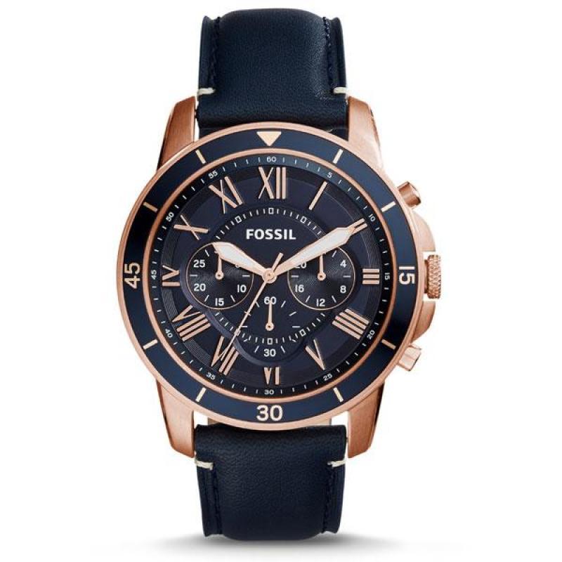Nơi bán Đồng hồ nam cao cấp dây da Fossil FS5237 (Xanh) - Phân phối chính hãng