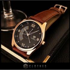 Đồng hồ nam cao cấp Yazole DH01 (Dây Nâu)
