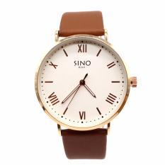 Đồng hồ nam chất liệu dây da, số la mã Sino 8369 đầy nam tính