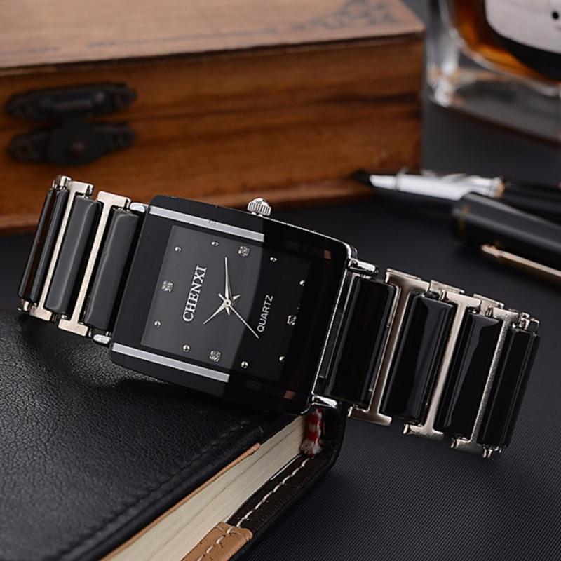 Nơi bán Đồng hồ nam Chenxi mặt chữ nhật dây đá CX99