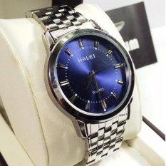 Đồng hồ Nam chống nước dây inox HALEI 502M