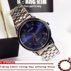 Đồng hồ Nam chống nước dây inox HALEI 502M + Tặng vòng tay gỗ phong thủy
