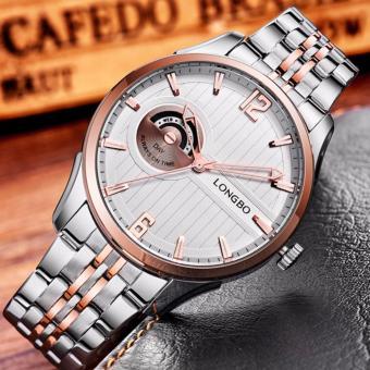 Đồng hồ nam chống nước dây thép cao cấp LONGBO LB501G