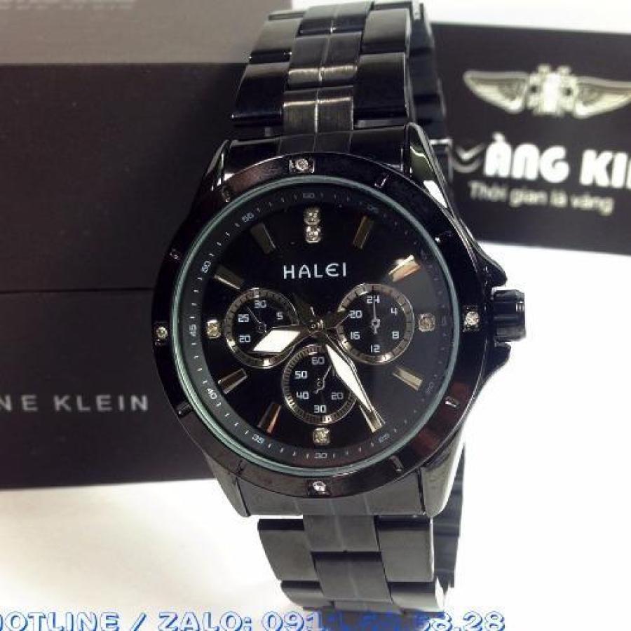 Đồng hồ nam chống nước dây thép không gỉ HALEI 88M full black