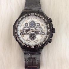 Đồng hồ nam chống nước dây thép không gỉ HALEI LUX10( mặt trắng)