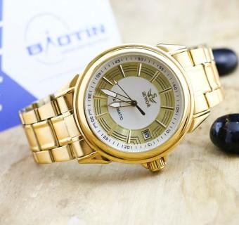 Đồng hồ nam cơ dây thép mạ Vàng SEWOR se4849 (Vàng)
