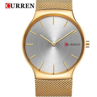 Đồng hồ nam CURREN 2 kim dây kim loại thép không gỉ mầu vàng - M8256 cao cấp - 2