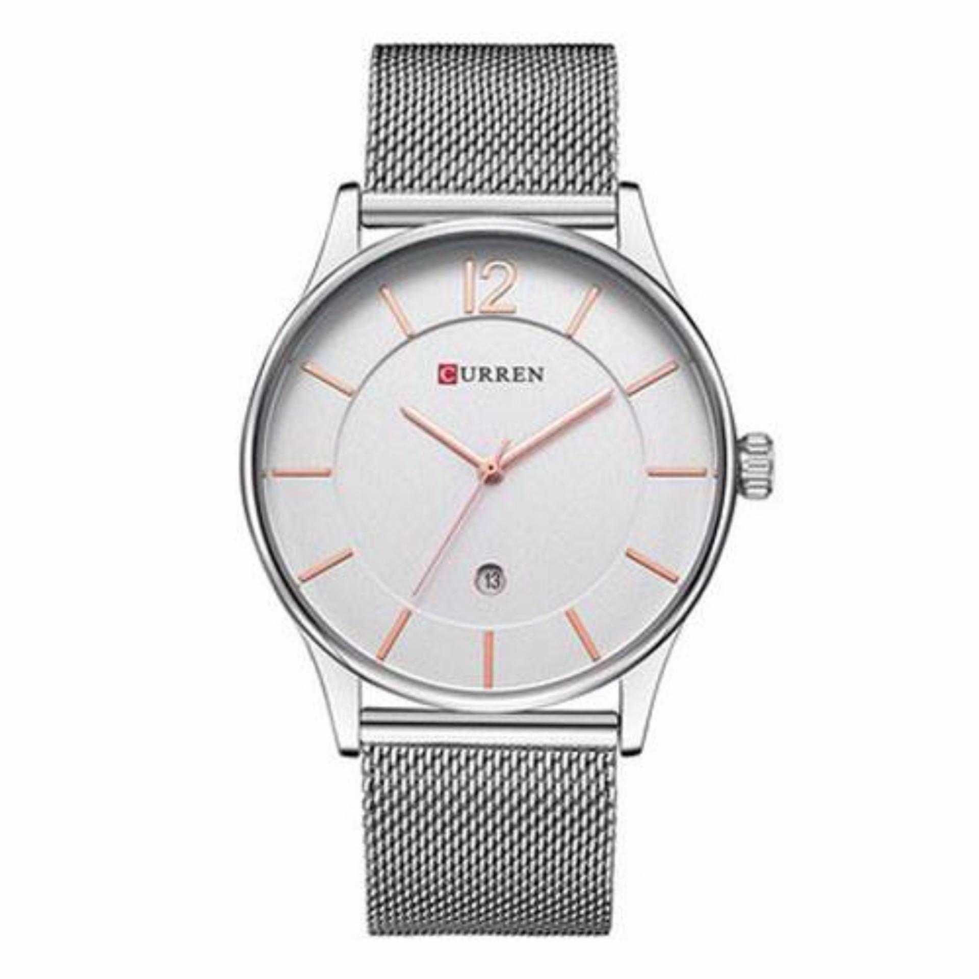 Bảng Giá Đồng hồ nam Curren 8231 dây trắng mặt trắng