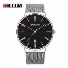 Đồng hồ nam Curren 8257 màu trắng mặt đen cực chất