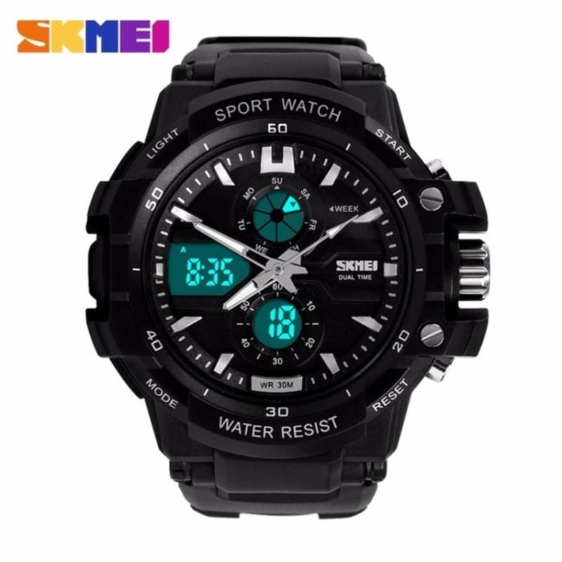 Nơi bán Đồng hồ nam dây cao su SKMEI 0990 (Đen mặt viền trắng)