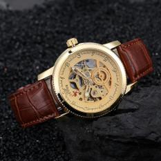 Đồng hồ nam dây da automatic SEWOR DHSE1237N (Nâu)