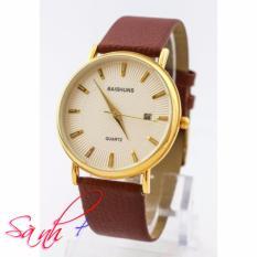Đồng hồ nam dây da Baishuns SLBS1482 mặt trắng