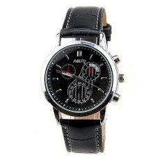Đồng hồ nam dây da cao cấp Nary 2571 (Dây đen mặt đen)