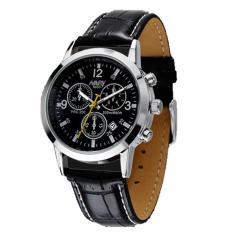 Đồng hồ nam dây da cao cấp Nary 9471 (Dây đen mặt đen)