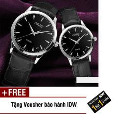 Đồng hồ nam nữ dây da cao cấp Nary IDW S0141 + Tặng kèm voucher bảo hành IDW