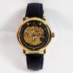 Đồng hồ nam dây da cao cấp SEWOR SW008R ( Mặt đen )
