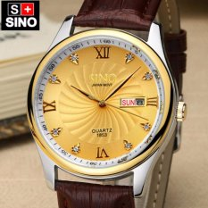 Đồng hồ nam dây da cao cấp Sino Japan Movt TPO-S1853 (Trắng, đen, vàng)