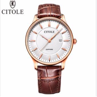 Đồng hồ nam dây da Citole cao cấp sang trọng phái mạnh