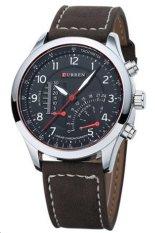 Đồng hồ nam dây da Curren 8152 (Nâu đen)