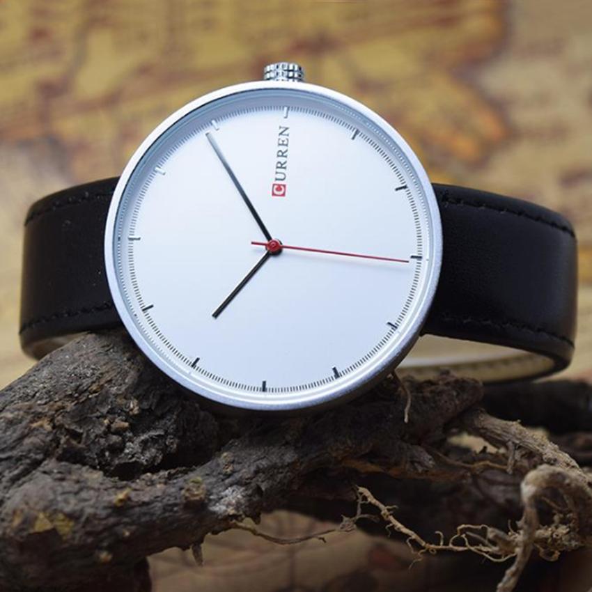 Đồng hồ nam dây da Curren 8223 (Đen)