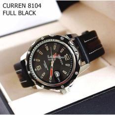 Đồng hồ nam dây da Curren CR8104 (đen)