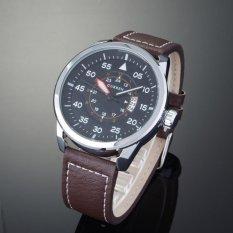 Đồng hồ nam dây da Curren CR821DD (Mặt đen)