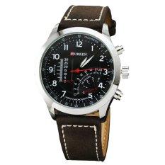 Đồng hồ nam dây da CURREN CU8152D (Mặt đen)