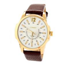 Đồng hồ nam dây da Curren DHN68 ( Trắng phối nâu)