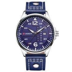 Đồng hồ nam dây da CURREN mã CR07X (Xanh đen)