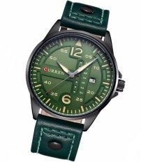 Đồng hồ nam dây Da CURREN mã DHCR1135X (Xanh Rêu)