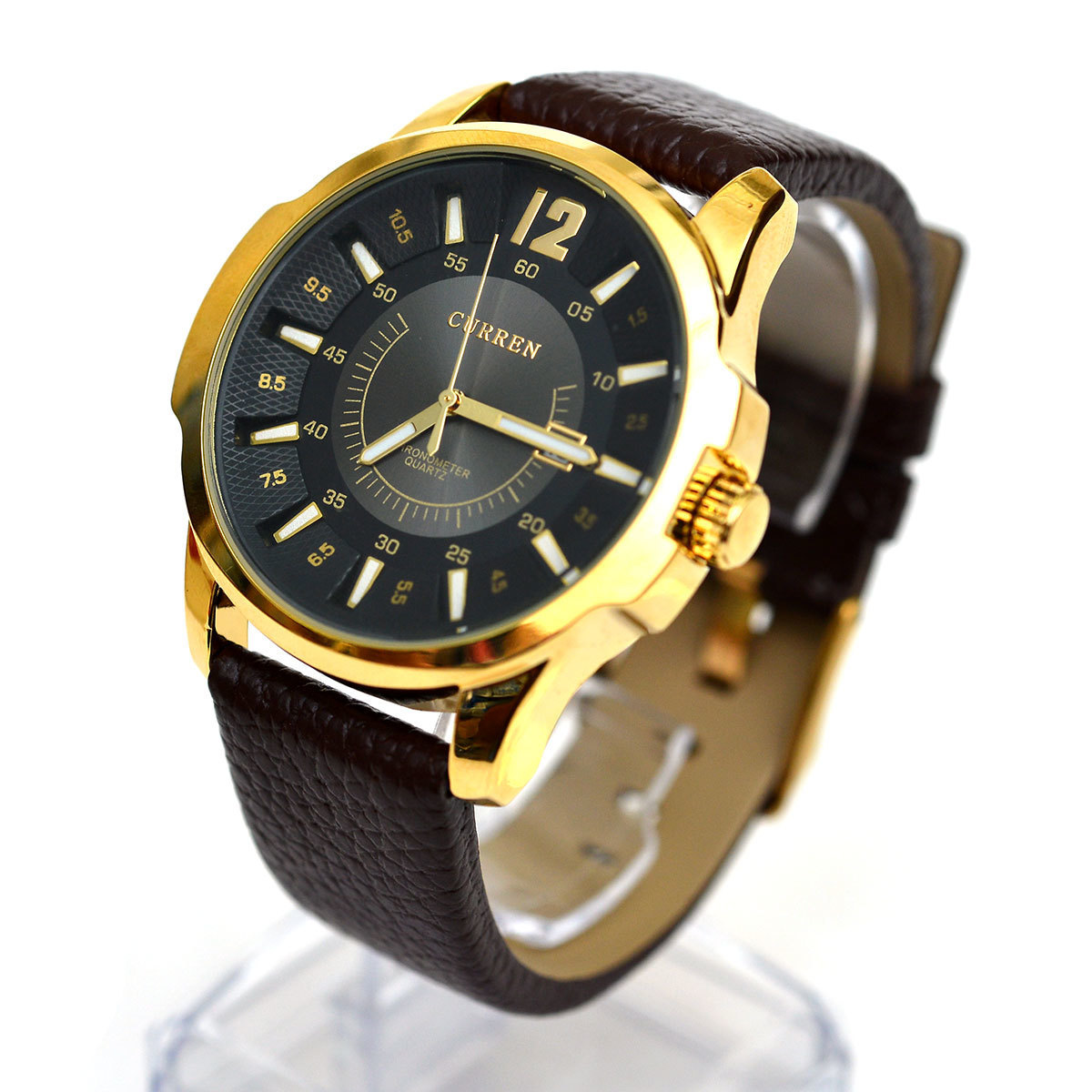 Cửa hàng bán Đồng hồ nam dây da Curren (Mặt đen dây nâu)