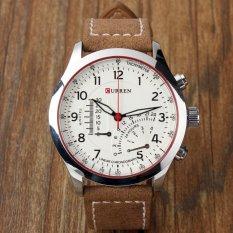Đồng hồ nam dây da CURREN8152 CR112T (Mặt trắng)