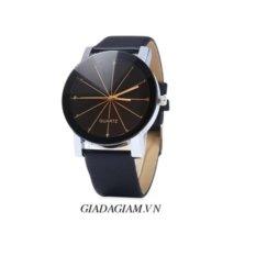 Đồng hồ nam dây da kính 3D SI015 DH25 (Đen)