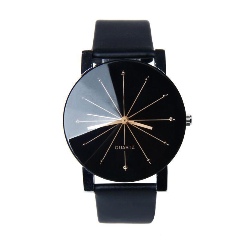 Nơi bán Đồng hồ nam dây da kính 3D ttp099 (Đen)
