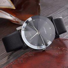 Giá bán Đồng hồ nam dây da mặt kính 3D chống xước SINOBI SI3D (Đen)