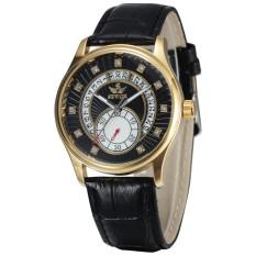 Đồng hồ nam dây da chạy 4 kim AUTOMATIC SEWOR DHS3399 (Mặt Đen)