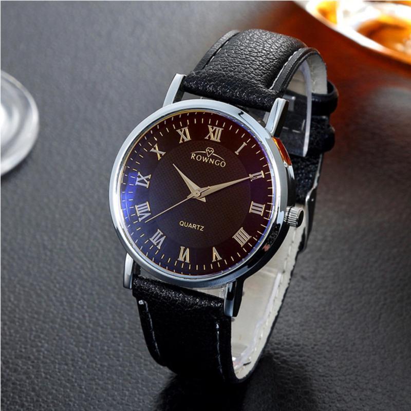 Nơi bán Đồng hồ nam dây da mềm sợi tổng hợp SD001 (Đen)